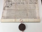Replica vellum deed with James I Great Seal