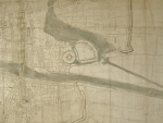 Detail of 1673 York map, before conservation