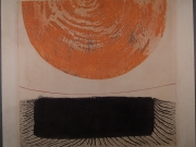 Derrick Greaves, Orange and Black Composition 1
