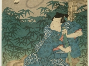 Japanese woodblock print (after conservation)