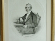William Gaskell M.A., lithograph, after conservation