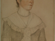 William Strang - Portrait of Mrs Waynman Dixon, after conservation