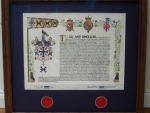 Framed Grant of Arms