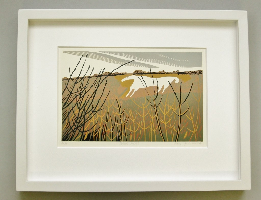 Example of contemporary mounting and framing