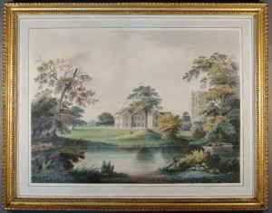 The watercolour by Francis Nicholson after conservation